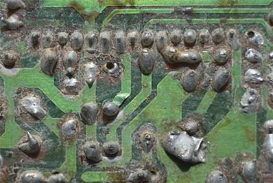 Corrosion on underground device PCB  copy